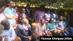 Zimbabwe Opposition MDC Leadership at Press Conference After Banned Protest