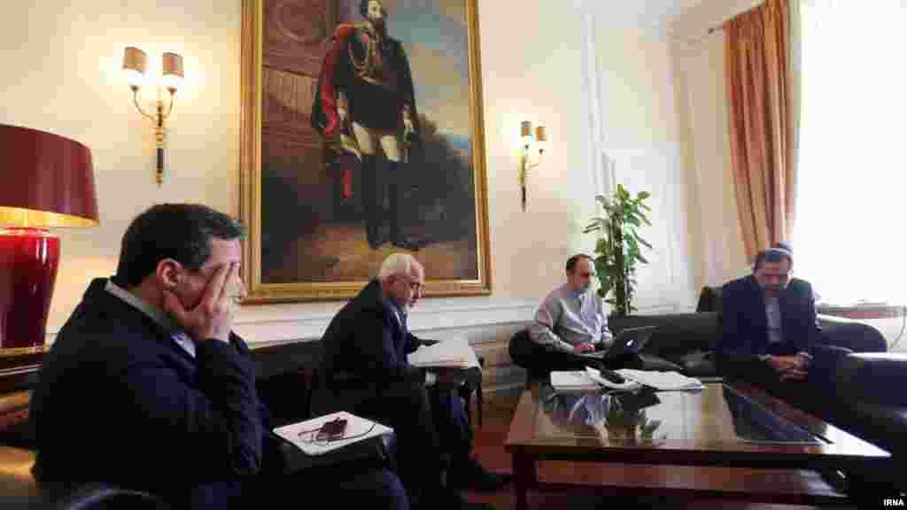 اتاق هیئت مذاکره کننده اتمی ایران در هتل کوبورگ وین - شنبه ۲۰ تیر ۱۳۹۴