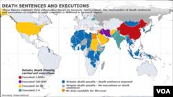 Amnesty International, death penalty map