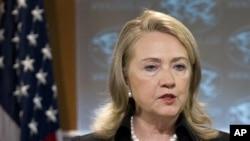 Menlu AS Hillary Clinton menawarkan dukungan pemerintah AS untuk memajukan kebebasan HAM di Timur Tengah.
