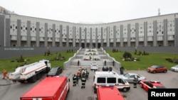 В результате пожара в больнице Святого Георгия в Санкт-Петербурге погибли пять пациентов, находившихся в отделении реанимации с коронавирусом, 12 мая 2020 года