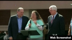 Kim Davis, a Kentucky clerk, was briefly jailed for refusing to grant marriage licenses to same-sex couples.