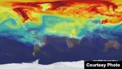全球暖化图(来源:NASA)