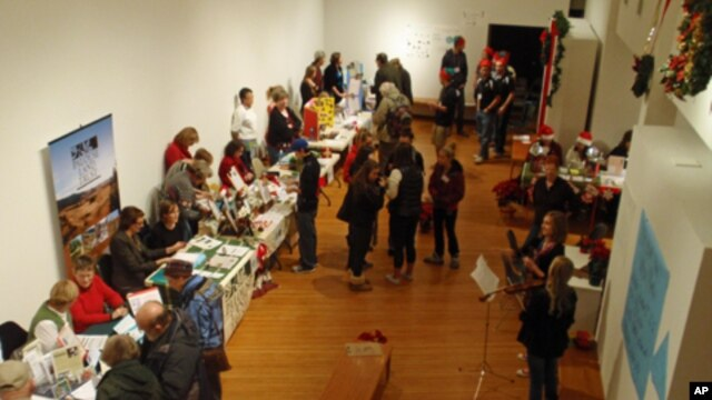 Donors peruse the wares at the 2011 Alternative Giving Market in Moscow, Idaho.