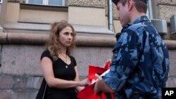 Ruska aktivistkinja i članica sastava Pusi rajot Marija Aljohina, Foto: AP Photo/ Alexander Sofeev