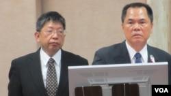 台灣官員6月6號在立法院就馬英九訪港議題接受質詢