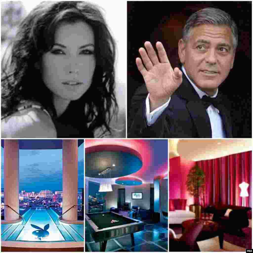 Em 2008, George Clooney levou a sua então namorada para uma noite romântica em uma suíte de um hotel em Las Vegas com o valor de 40 mil dólares por noite.