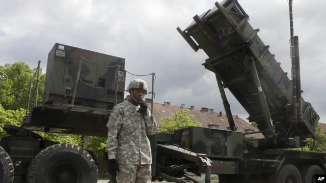 FILE - NATO Patriot surface-to-air missiles.