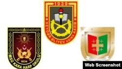 Azərbaycan, Türkiyə və Gürcüstan hərbi məktəblərinin emblemləri