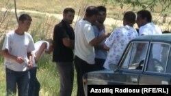 Bakı, Qaradağ rayonunda işsizlər , 21 yanvar 2012