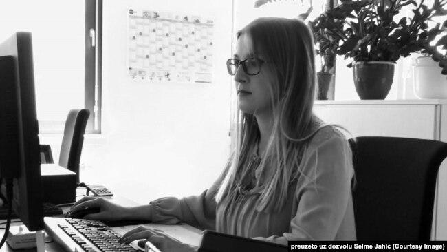 Selma Jahić na radnom mestu