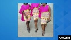 Vestido para madrinhas criado por Leonilzia Emília Manhiça