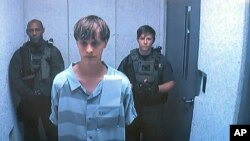 Dylann Roof appears via video before a judge in Charleston, S.C, June 19, 2015.