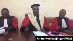 Yéna Timothée, président de la Cour d'appel de N'Djamena, au Tchad, le 11 janvier 2018. (VOA/André Kodmadjingar)