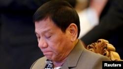 菲律宾总统杜特尔特。(资料照片)
