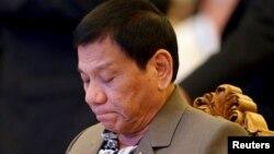فلپائن کے صدر روڈریگو ڈوٹرٹے (فائل فوٹو)