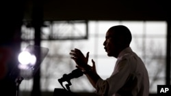 Rais Obama akizungumza katika chuo kikuu cha Boise huko Idaho kufuatia hotuba yake ya jumanne