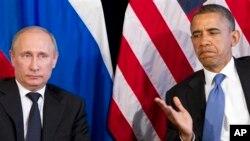 美國總統奧巴馬(右)與俄羅斯總統普京(左)[資料圖片]