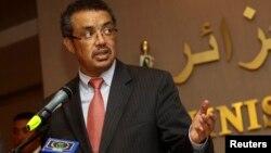 지난 6월 알제리에서 알제리 외무장관과 합동기자회견을 갖고 있는 에티오피아의 테드로스 아드하놈 외무장관. (자료사진)