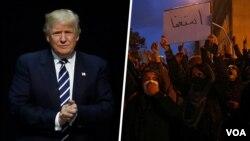 در حالی پرزیدنت ترامپ از معترضان ایرانی حمایت کرده که آنها خواستار کنارهگیری علی خامنهای هستند و علیه جمهوری اسلامی شعار میدهند.