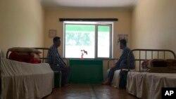 북한 평양 결핵 병원의 환자들. (자료사진)