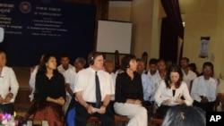 Cambodian NGOs at a social forum.