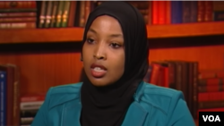 FILE - Munira Khalif is seen in a screengrab from video during an interview with VOA's Somali Service.