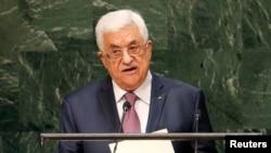 Presiden Palestina Mahmoud Abbas saat menyampaikan pidato pada Sidang Umum PBB di New York (Foto: dok).