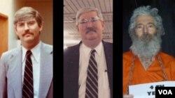 سه عکس از آقای لوینسون از چپ: در زمان کار در اف بی آی، بازنشستگی و مفقود شدن