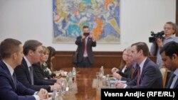 Sastanak predsjednika Srbije Aleksandra Vučića i američkog zvaničnika Davida Halea