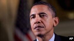 奧巴馬總統在1月1日發表每週總統例行演說