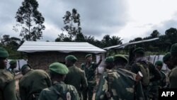Basoda ba mampinga ma RDC na parc ya Virunga, na Mutwanga, Nord-Kivu, 24 mars 2021