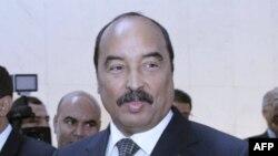 Le Chef de l'état mauritanien et président en exercice de l'Union Africaine (UA), , Mohamed Ould Abdel Aziz pose pour une photo lors du 22ème Sommet de l'UA à Addis Abeba, le 31 janvier 2014.