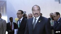 Mohamed Ould Abdel Aziz lors du 22e sommet de l'Union africaine à Addis Abeba, le 31 janvier 2014. (AFP PHOTO / SOLAN GEMECHU)