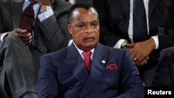 Le président Denis Sassou-Nguesso du Congo-Brazzaville, à Bamako, Mali, 14 janvier 2017.