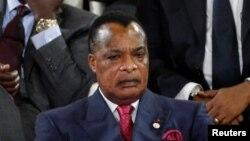 Le président congolais Denis Sassou-Nguesso à Bamako, Mali, le 14 janvier 2017.