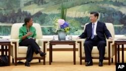 중국을 방문한 수전 라이스 백악관 국가안보보좌관(자료사진)이 28일 베이징에서 시진핑 중국 국가주석을 면담했다.