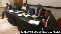 Bokutani ya bakambi ya FCC (Front commun pour le Congo) na Kinshasa, 2 juillet 2019. (Twitter/FCC officiel)