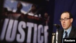 Joel Simon, Direktur CPJ saat memberikan presentasi mengenai kekerasan terhadap wartawan (foto: dok).
