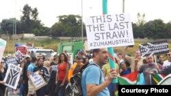 Protestos em Joanesburgo