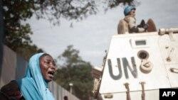 Umukenyezi arizwa n'ubwicanyi, hafi y'icicaro ca Minusca, i Bangui, itariki 11/04/2018