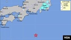 Lokasi pusat gempa yang mengguncang Tokyo di penghunjung 2011 (1/1).