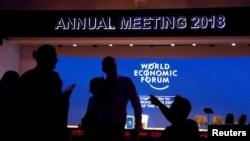 瑞士度假胜地达沃斯即将举行年度达沃斯经济论坛的主会场。(2018年1月22日)