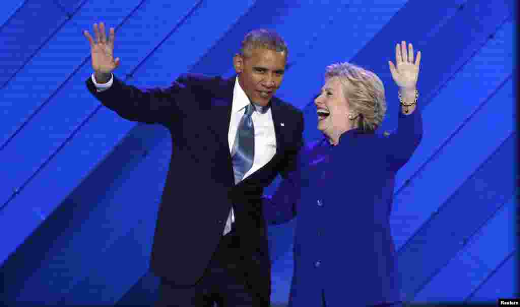 صدر اوباما نے اس موقع پر کہا کہ ہلری کلنٹن صدارت کے لیے موزوں ترین امیدوار ہیں۔
