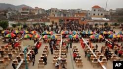 广东乌坎村2012年3月3日举行村委会选举时的情景。(资料照)