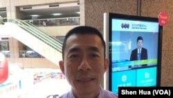 台北旅行商业同业公会理事长吴志健(美国之音记者申华 拍摄)