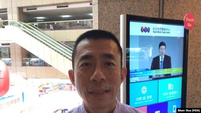 台北旅行商業同業公會理事長吳志健(美國之音記者申華拍攝)