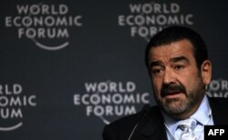 FILE - Andronico Luksic speaks at a news conference during the World Economic Forum on Latin America, in Santiago, Chile, April 25, 2007.
