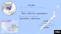 帝都島(中國稱中業島,菲律賓稱帕伽薩島)地理位置示意圖。