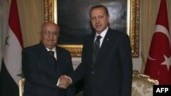 Suriye Başbakanı Naci Otri ve Başbakan Recep Tayyip Erdoğan